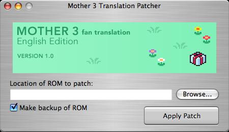 MOTHER 3 Fan Translation » Blog Archive » Testing Finishes